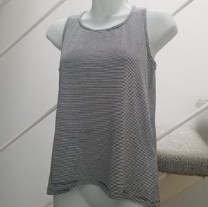 Coin 1804 Anthropologie Sripe Button Back Tank